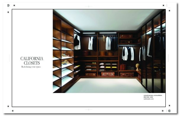 Student project magazine ad for California Closet.