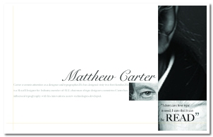 Typographic spreads honoring Mr.Carter