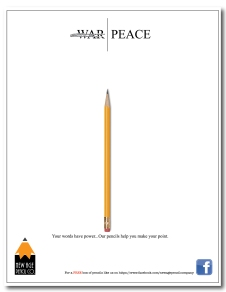 A magazine advertisement for fictional pencil company,designed for the 2017 GAERF contest.Winning entry awarded 2nd place .