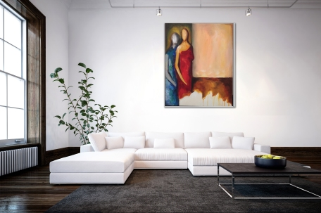 Suggested look of painting on wall