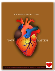 A 2 part series of Ads designed to encourage organ donation.This project was done in illustrator with emphasis on medical illustration.
